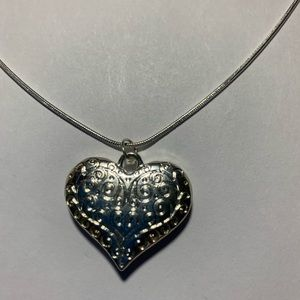 Beautiful SS HEART Pendant SS Chain